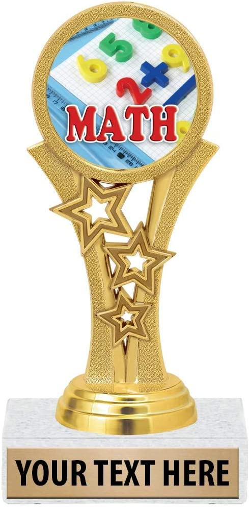 5 1//2 Starbeam Mathematics Trophies for Kids with Free Custom Engraving Prime Crown Awards Math Trophies
