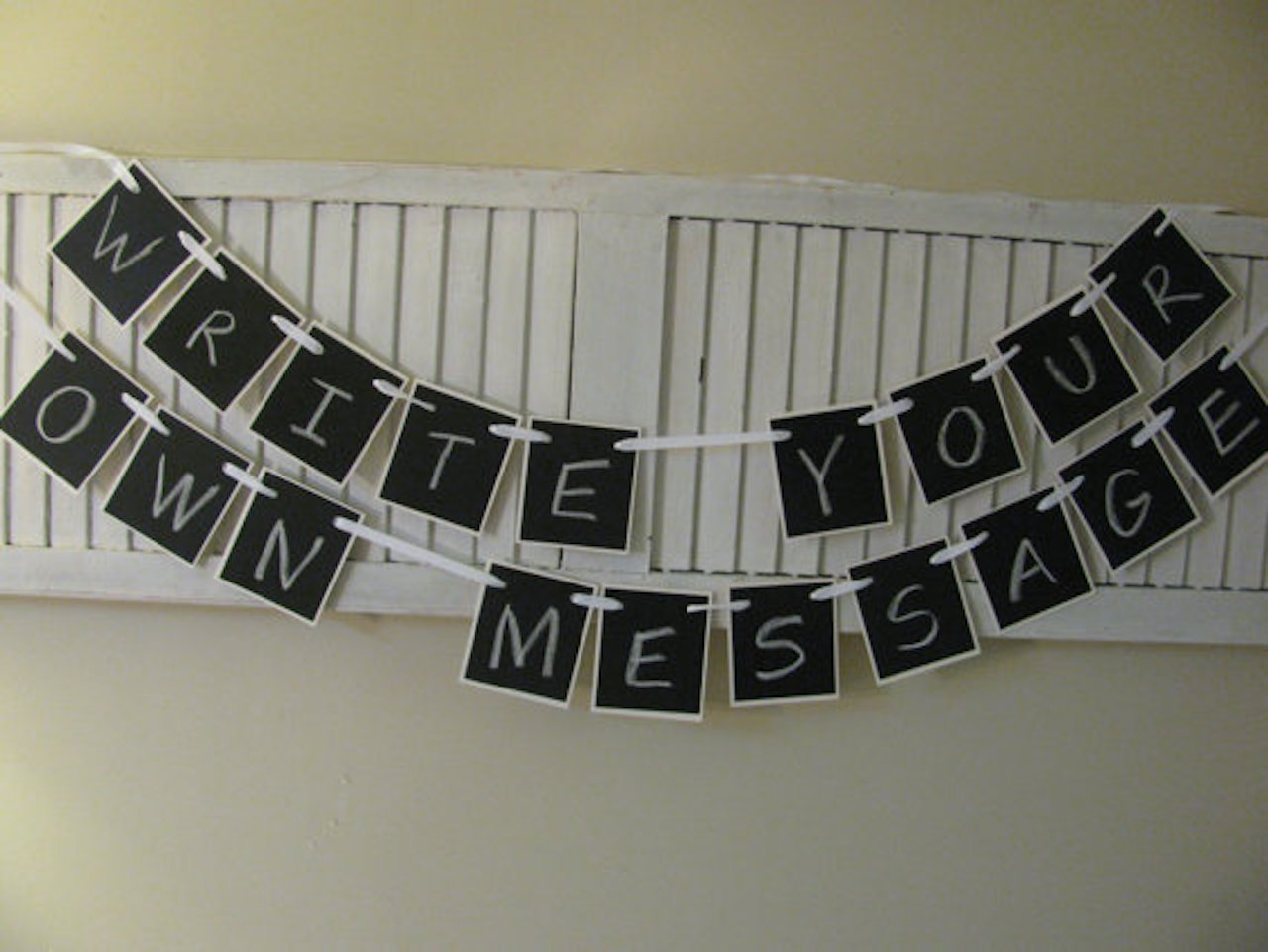 CARDS Banner Bunting Sign Rustic Cards travel Wedding Garland black letters