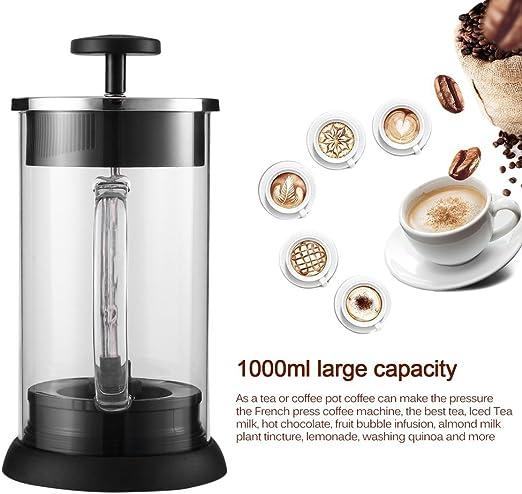 maistore Cafe cristal prensa francesa cafetera eléctrica cafetera ...