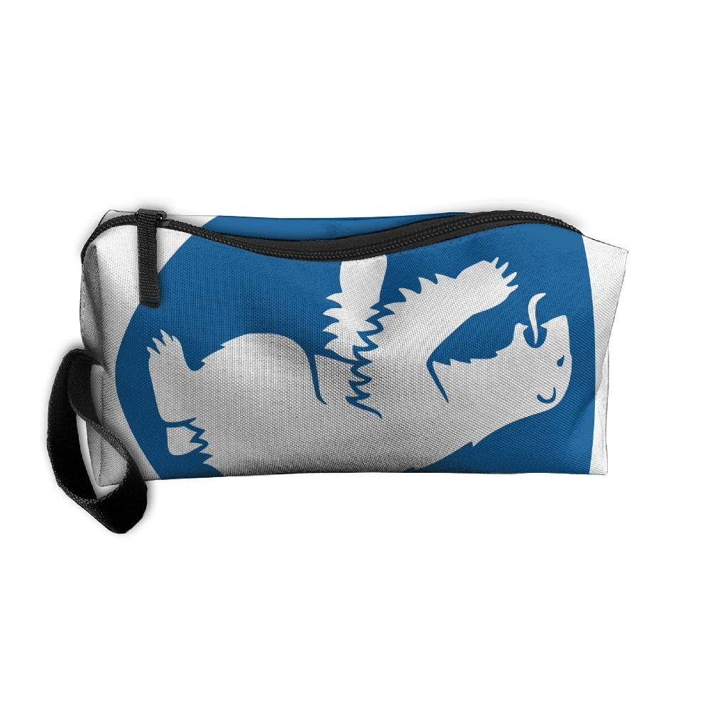 HSs4AD Coat Of Arms Of Greenland Cosmetic Bag Travel Toiletry Bag Portable Makeup Pouch Hanging Organizer Bag