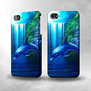 Apple iPhone 5 / 5S Case - The Best 3D Full Wrap iPhone Case - Dolphin