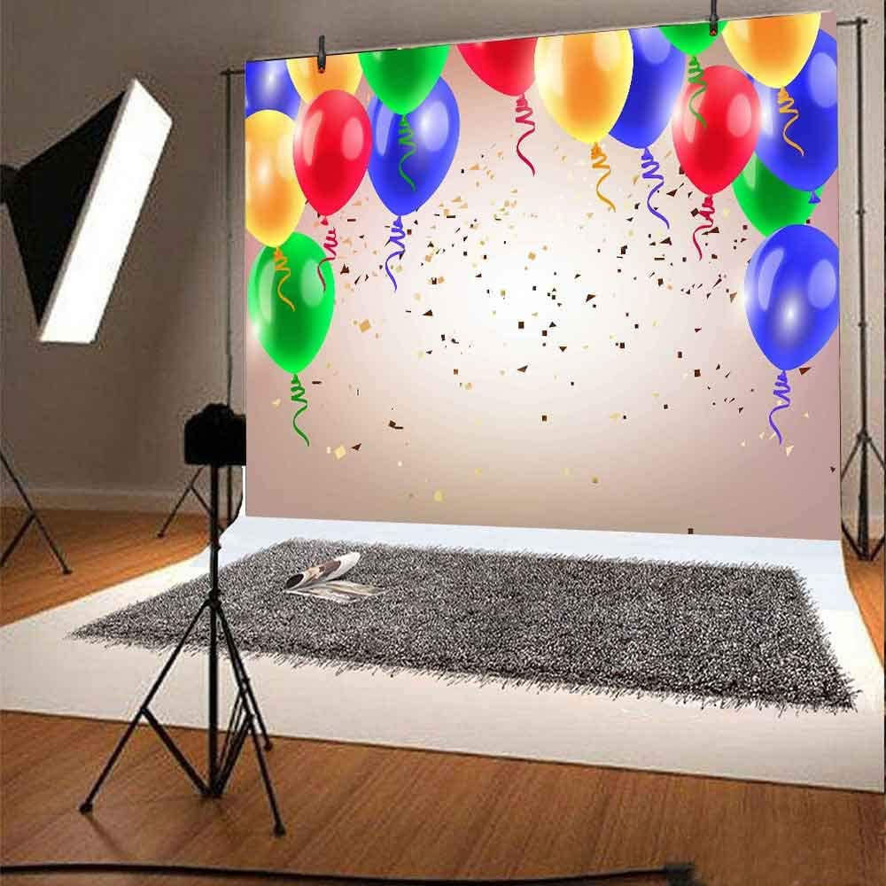 FHZON 10x7ft 40th Birthday Wallpaper Backdrop Black Stripe Photography Background Themed Party YouTube Backdrops Photo Booth Props HXFH132