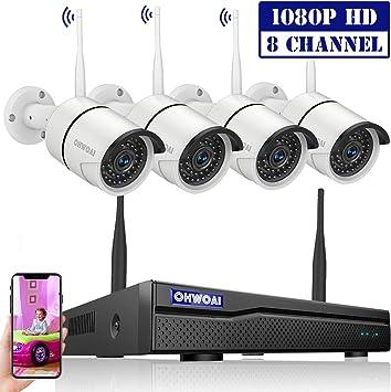 Amazon.com: Sistema de cámara de seguridad inalámbrico ...