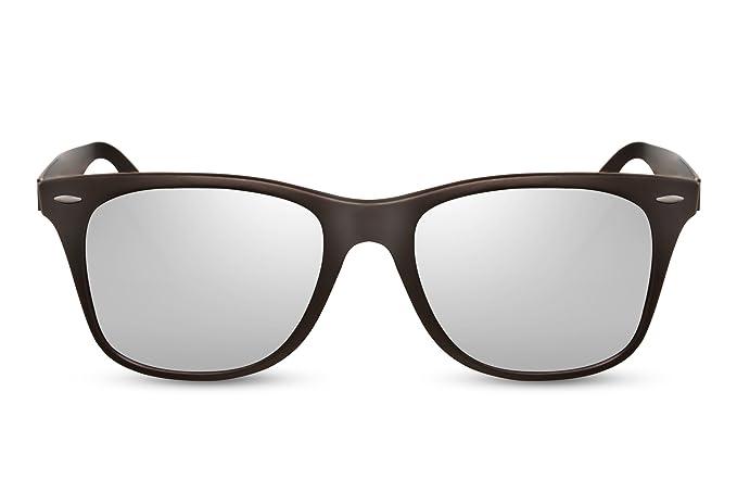 f44fa49b7e8940 Cheapass Sunglasses Silver Mirrored Lenses Black Grey Frame UV-400 Nerd  Glasses Festival Ladies Women Men  Amazon.co.uk  Clothing