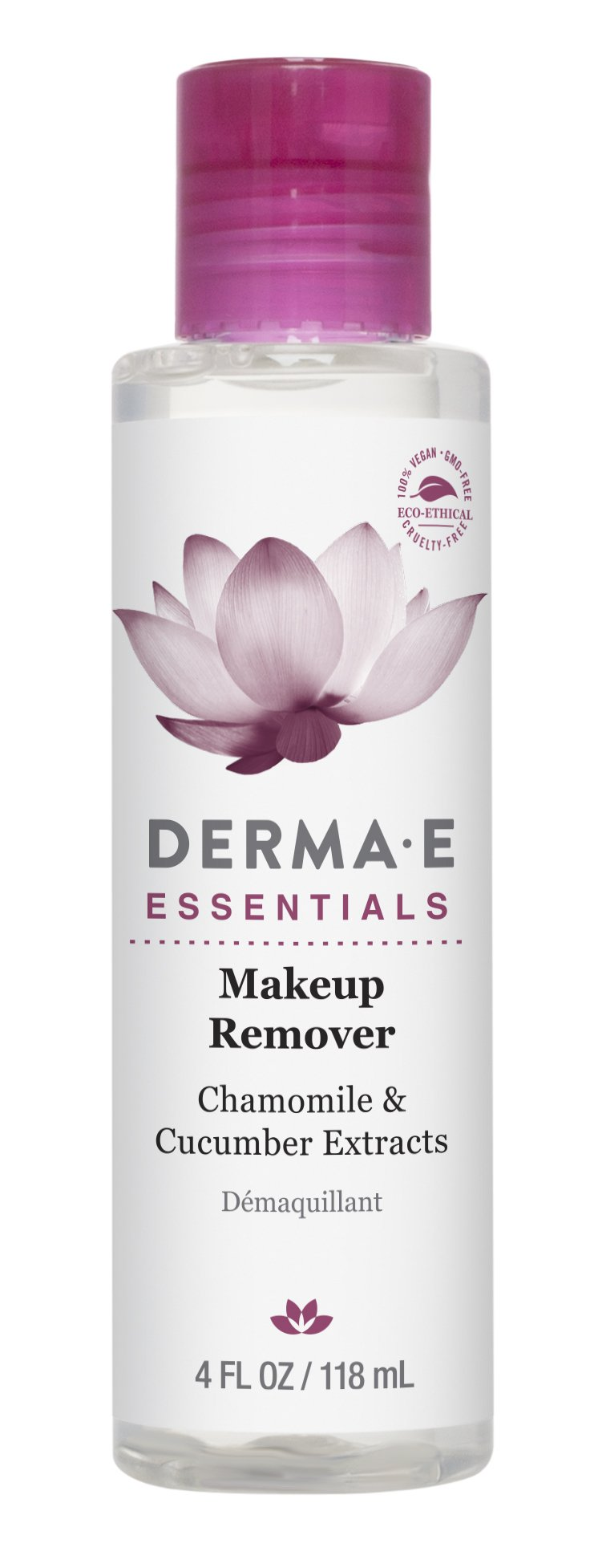 DERMA E Makeup Remover with Chamomile and Cucumber Extracts 4 fl oz by DERMA-E (Image #2)