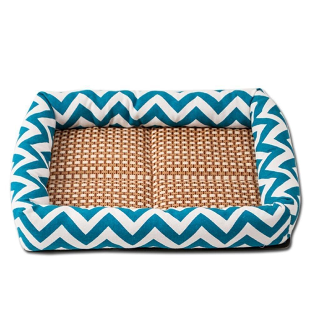 C 58x45cm C 58x45cm YunYilian Pet Bolster Dog Bed Comfort Wave Surround Pet Bed Mat Dog mat (color   C, Size   58x45cm)