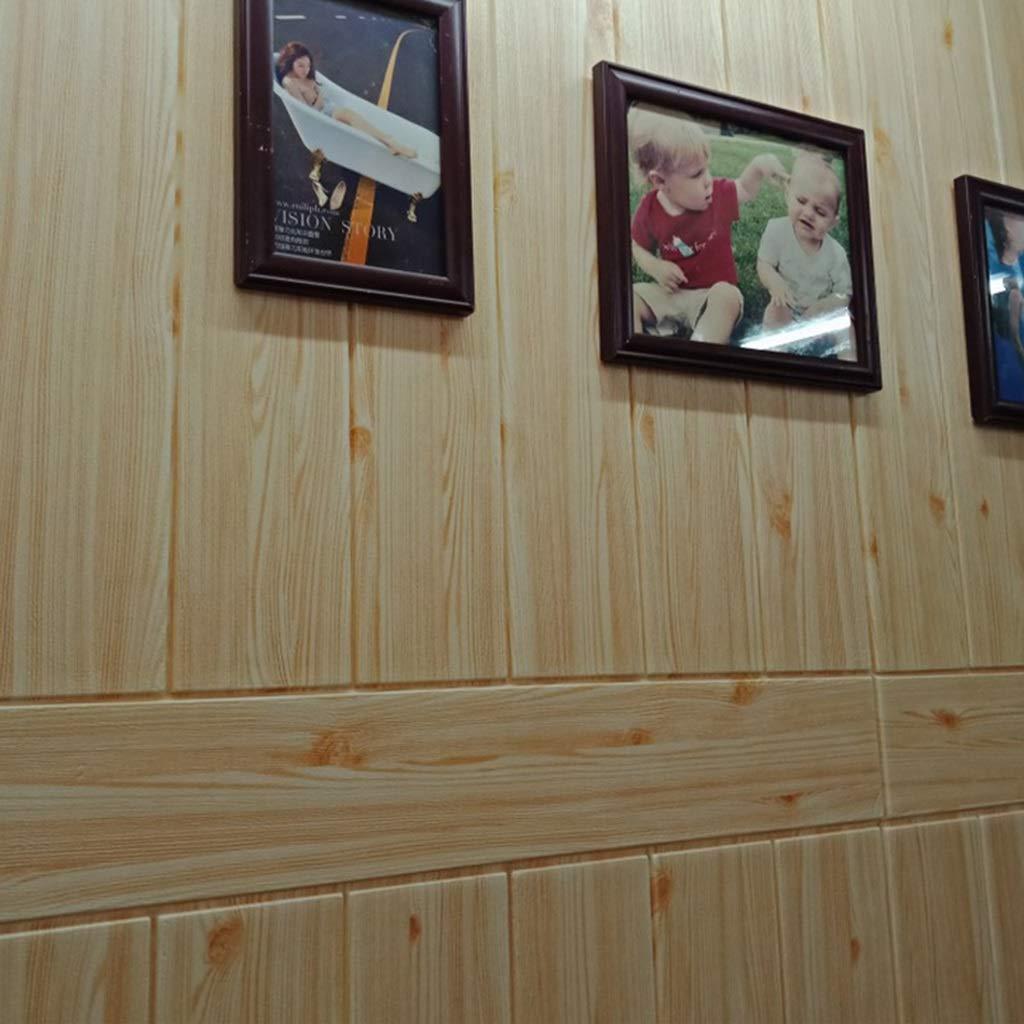 K&F-qianzhi Panel De Pared 3D Imitación De Madera Grano Revestimiento Ladrillo Panel De Fondo Panel De La Sala De Estar Cocina Cocina Decoración De La ...
