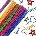 KINGLAKE 240 Pcs 12 Colors Colored Tinsel Chenille Stems Metallic Pipe Cleaner,6 mm x 12 Inch,Glitter Sparkle Pipe Cleaners for DIY Craft Projects,Wedding,Home,Party,Holiday Decoration
