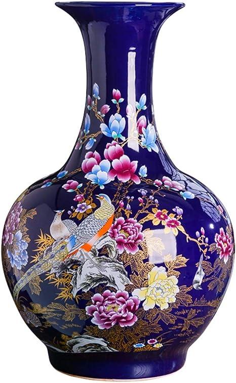 Jarrones Grandes De Cerámica Con Diseño De Flores Chinas Decoración Para El Hogar Home Kitchen