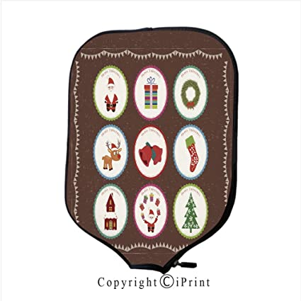 Premium Neoprene Material,Soft,Thick Enough Protector Pickleball Paddle Cover,Christmas printables2(