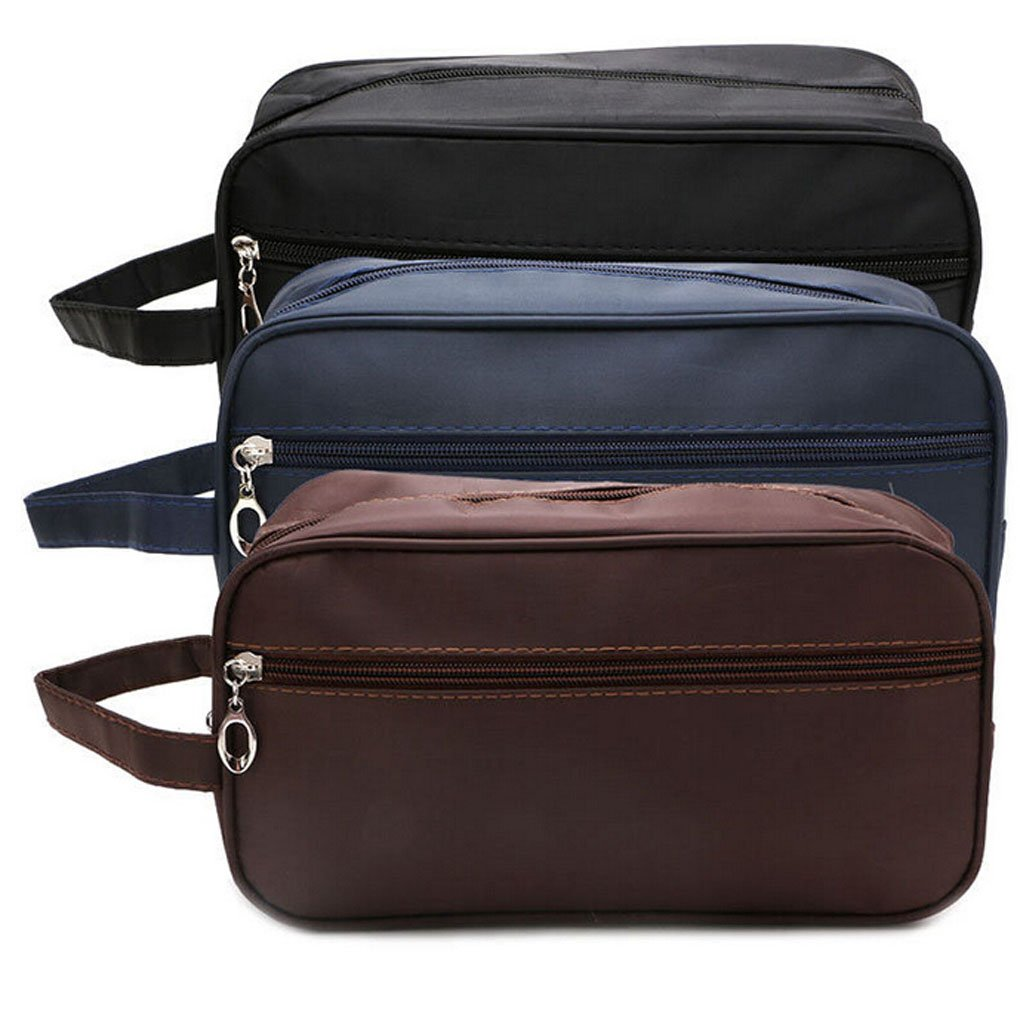 PU Leather Travel Toiletry Bag for Men or Women Waterproof. Travel Size Toiletries  Bag Toilet 7f0838d206102