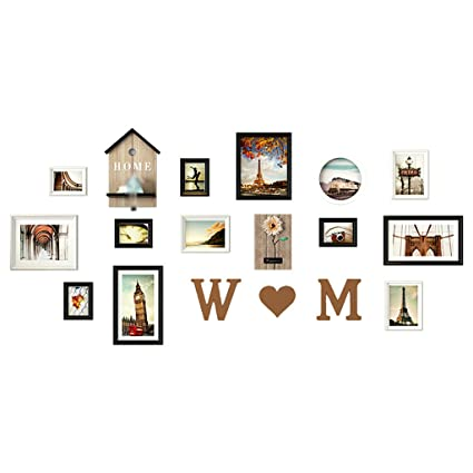 Photo Wall Wood Photo Frame Photo Album Wall European Style Living ...