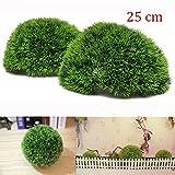 25cm Plastic Artificial Conifer Topiary Grass Ball Wedding Gardening Hanging Decoration