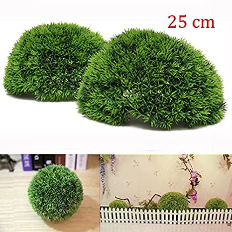 Amazon Com 25cm Plastic Artificial Conifer Topiary Grass Ball