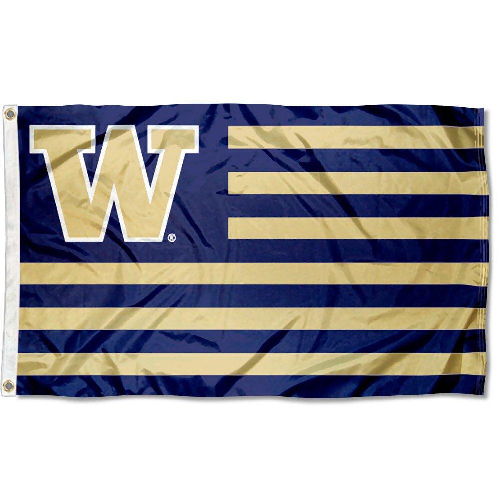 University of Washington UW Alumni Nation Stripes Flag