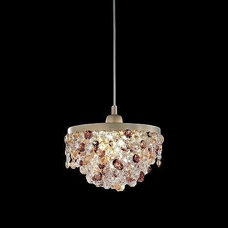 Lámpara de techo colgante de oro Masiero Rosemery de marfil ...