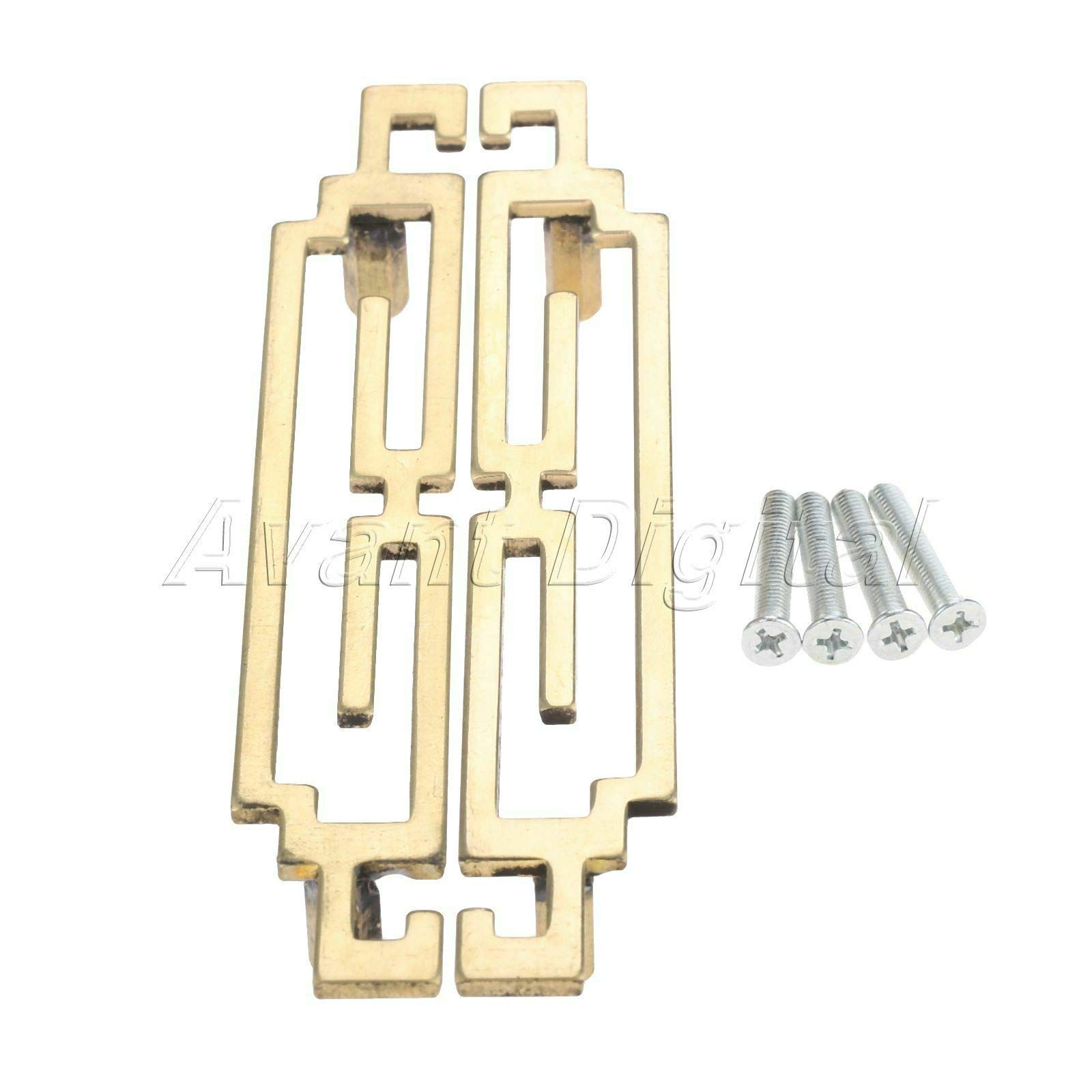 Mercury_Group, Antique Retro Vintage Pulls Knobs, Dynasty Style Door Cupboard Brass Handle Pulls Furniture Kitchen Cabinet Knobs - (Size: Length 175mmx2Pcs, Color: Brass)