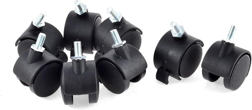 Aexit Maleta con ruedas de 1,5 pulgadas de diámetro Ruedas gemelas de plástico Anillo de freno giratorio Rueda 8PCS (6f4fcdb0f0f224a9150f8627276161b0)