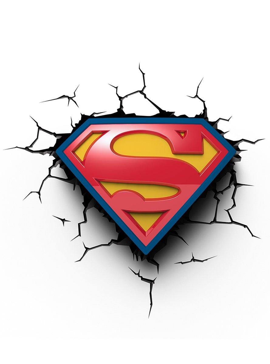 8414834142928 Superman Logo Superman Eurobric 2000 Lampe murale 3D Deco Light