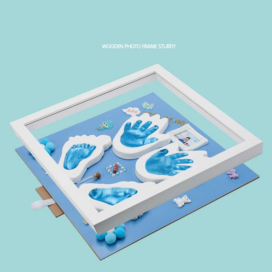 3 Years Clay Handprint Kit 0 Month White and Grey Hoverex Baby Art Magic Box