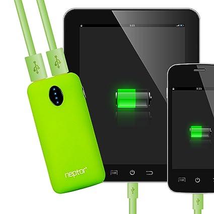 Amazon.com: neptor Dual Port carga rápida battery Pack ...