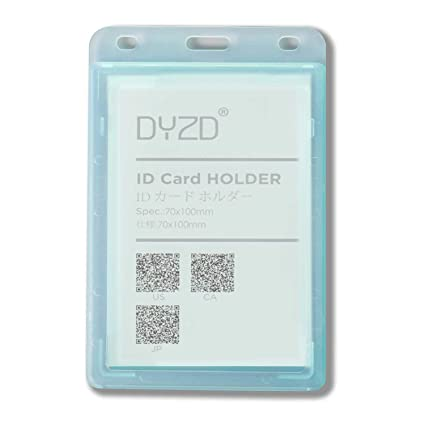 dyzd id badge holder plastic id card holder id holder without lanyard double sided transparent id - Plastic Id Card Holder