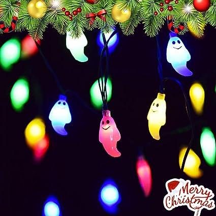 Amazon Com Vivreal Christmas Ghost String Multicolor 30 Led Fairy