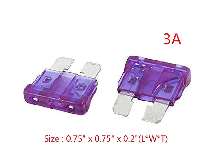 YXQ 30Pcs 3A 3Amp ATC Mini Fuse Blade Automotive Replacement Fuses Holder Kit Car Truck Accessories Purple