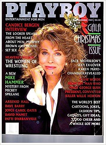 playboy magazine december 1989 mbox2411 candice bergen heavenly hulks the women of wrestling amazon co uk mag books