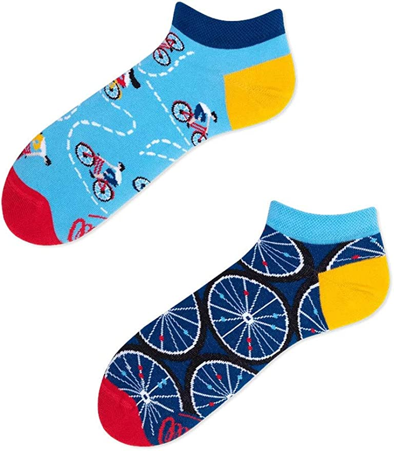 Many Mornings The Bicycles Low Calcetines cortos divertidos con ...