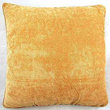 Coffee Color Cotton Polyester Blend Home Decorative Throw Pillow Case Cushion Cover Square 18 x 18 Inches