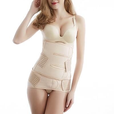 Aigori 2 in 1 Postpartum Recovery Back Support Waist Wrap Abdominal Pelvis Belt Girdle Corset Postnatal Body Shapewear