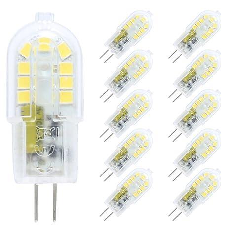 10X Regulable 3W Regulable bombillas halógenas G4 de bombilla LED 3W repuesto brillante blanco frío 6000K