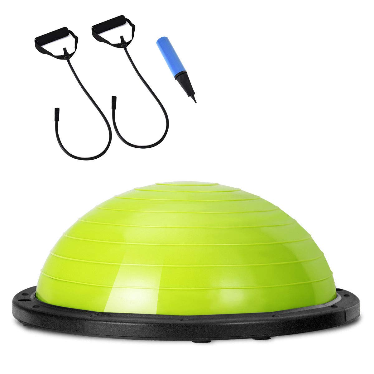 Giantex 23'' Yoga Ball with Pump Balance Fitness Trainer Home Exercise Training Balance Boards (Green)