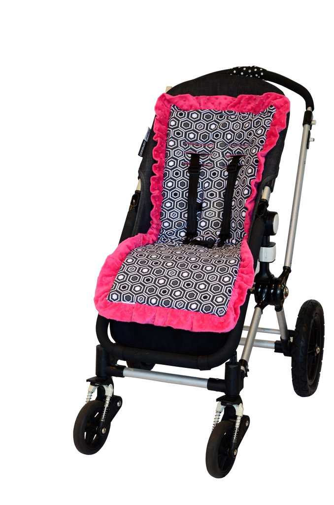 Baby-BeeHaven Cush and Go Memory Foam Stroller Liner, Pink Honey 661799212397
