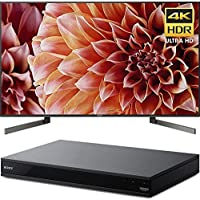 Sony XBR75X900F 75 4K HDR10 HLG Dolby Vision Triluminos UHD LCD Android TV with Google Assistant & X1 Processor 3840x2160 + Sony UBPX800 4K HDR UHD Blu-Ray Player with Dolby Atmos 3D