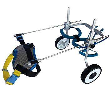Movilidad Perro Silla De Ruedas Ajustable Peso Ligero Patas Traseras Rehabilitación Grande: Amazon.es: Deportes y aire libre