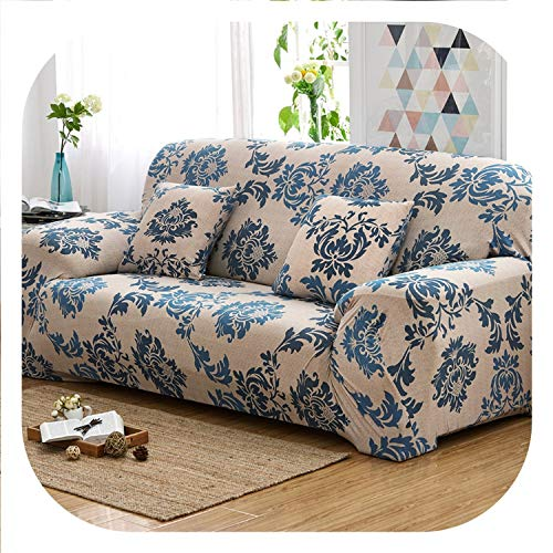 New face Flower Design Universal Cover for Sofa Armchair Elastic Stretch Couch Cover Sectional Sofa Covers Furniture Protector 1/2/3/4-X,5,3 Seater (Furniture Set With Room Jordan's Tv Living)
