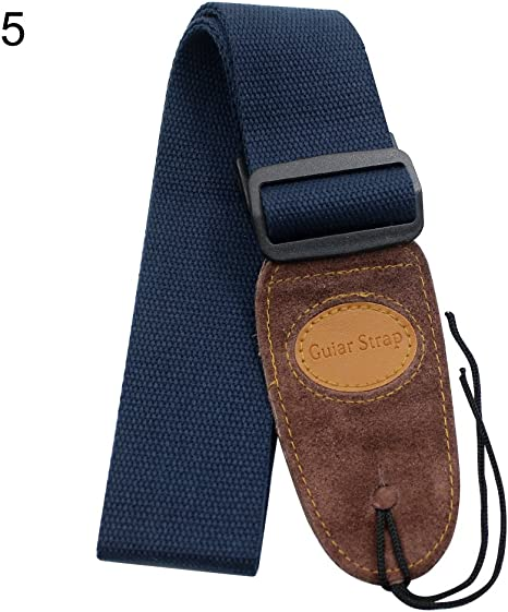 ACOUSTIC OR ELECTRIC ADJUSTABLE GUITAR WEBBING STRAP NEW NAVY BLUE