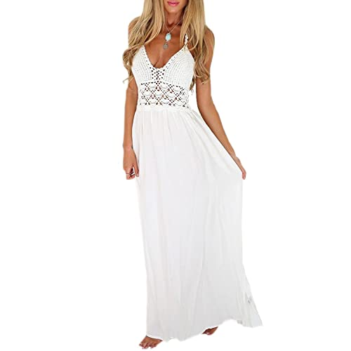 White Beach Long Maxi Dresses