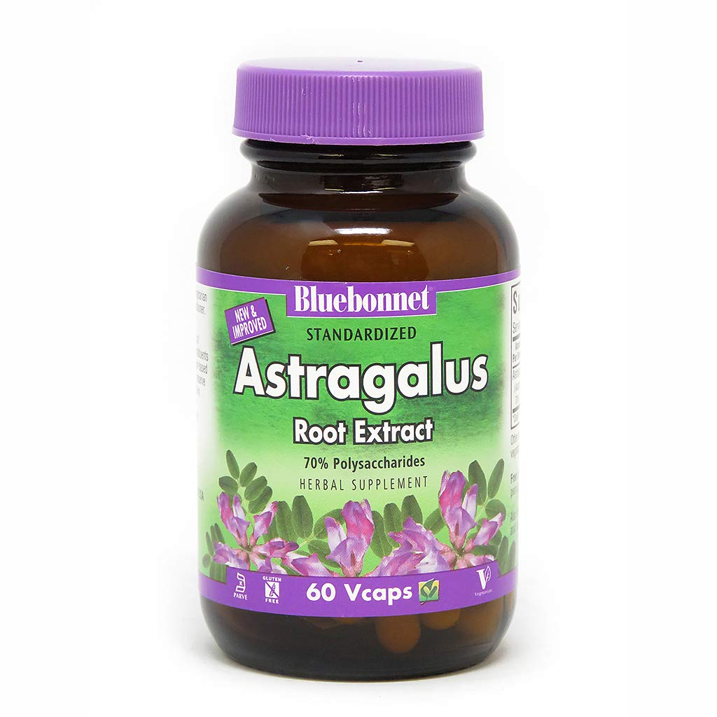BlueBonnet Astragalus Root Extract Supplement, 60 Count