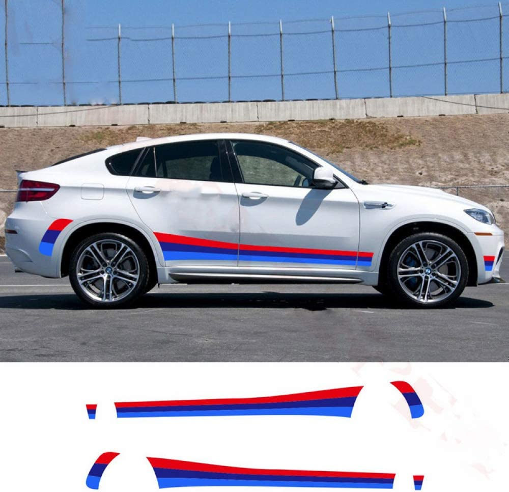 f/ür BMW E70 E71 F15 F16 F25 F26 HLLebw Auto Seitenstreifen Seitenaufkleber Aufkleber