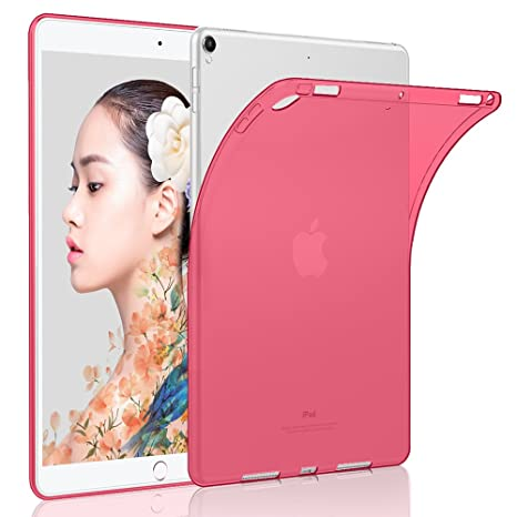 HBorna Funda iPad 2018/2017 (9.7 Pulgada), TPU Transparente Back Cover Case Flexible Silicona Fundas Carcasa Protector para 9,7 Pulgadas Apple iPad ...