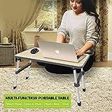 PAffy Height Adjustable Foldable Multi-Function Portable Laptop Table (Black, Paffy-LT-HStyle-Black-HI)