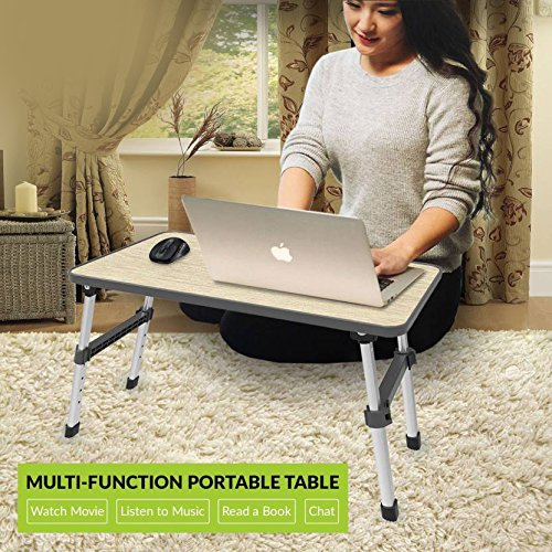 PAffy Height Adjustable Foldable Multi-Function Portable Laptop Table (Black, Paffy-LT-HStyle-Black-HI)