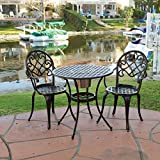 Christopher Knight Home VD-2977OP Outdoor Metal Bistro Set, Copper