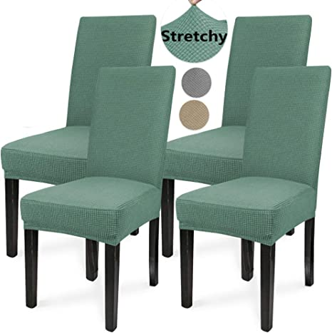Stretch Spandex Chair Covers Removable Slipcovers Seat Cover Dining Room Decor