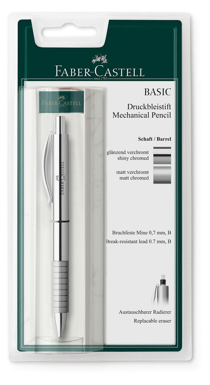 Faber-Castell 138478 - Metallo portamine BASIC, spessore estrazione: 1,4 millimetri, in argento opaco o lucido disponibile on-line, nessuna selezione possibile