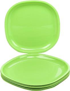 Buy Signoraware Round Full Plate Set Set Of 6 Parrot Green Online