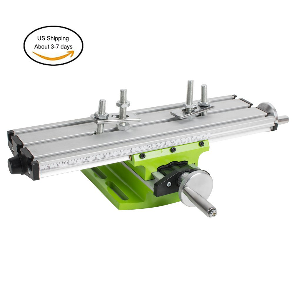 Denshine Multifunction Worktable, Milling Machine Cross Sliding Table Vise For DIY Lathe Bench Drill - US Shipping